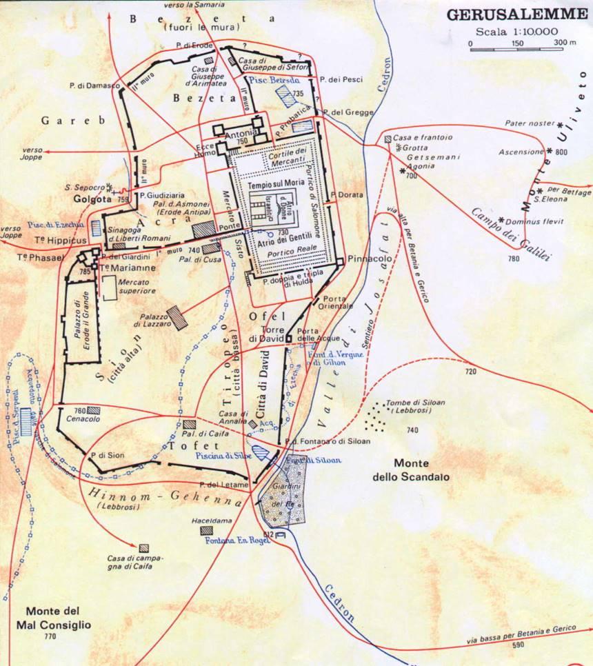 Cartina Muta Della Palestina.La Storia Della Salvezza